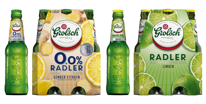 Alle Grolsch Radlers nu over op 35% minder suiker met behoud van smaak