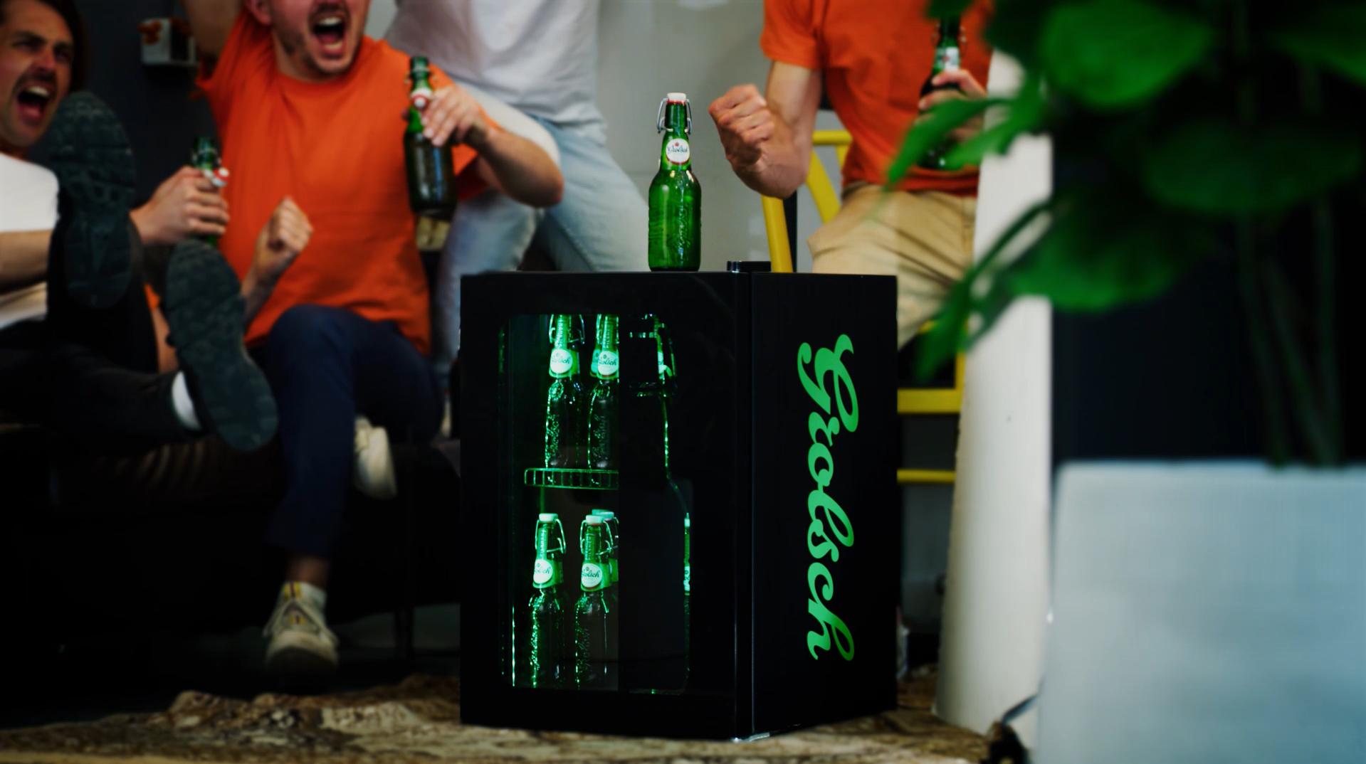 Grolsch zorgt voor koud bier binnen handbereik tijdens EK voetbal