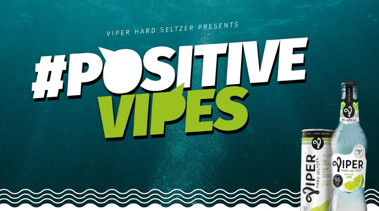 #PositiveVipes: Viper Hard Seltzer maakt Social weer Social