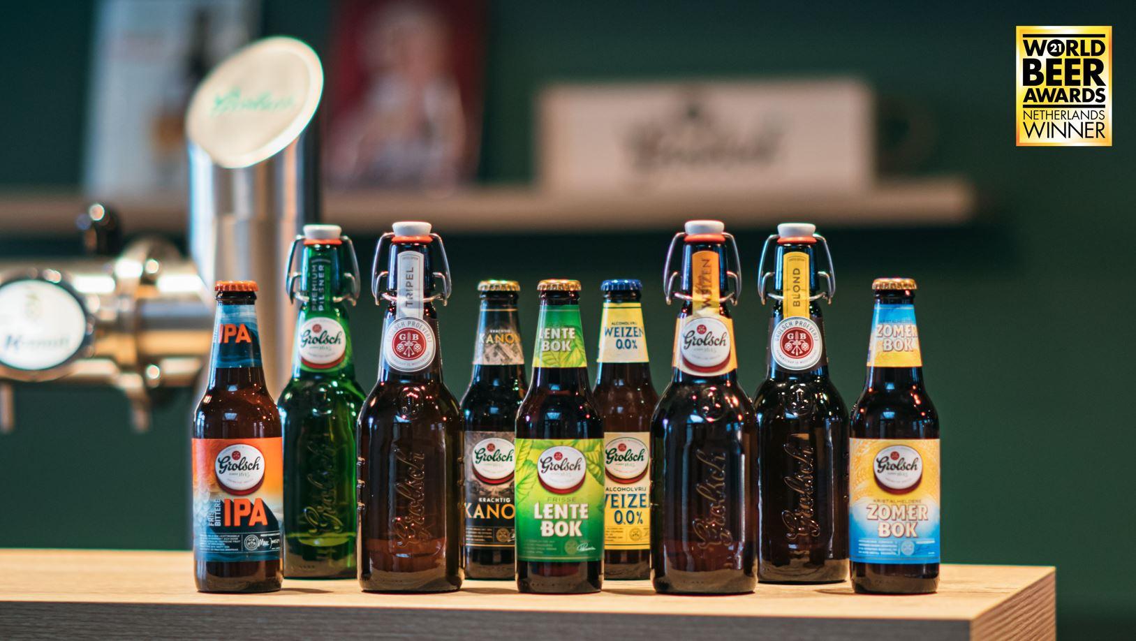 Grolsch valt negen keer in de prijzen bij de World Beer Awards