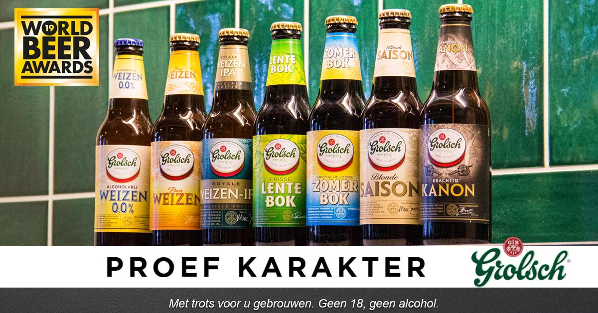 Grolsch Speciaalbier in de prijzen bij de World Beer Awards