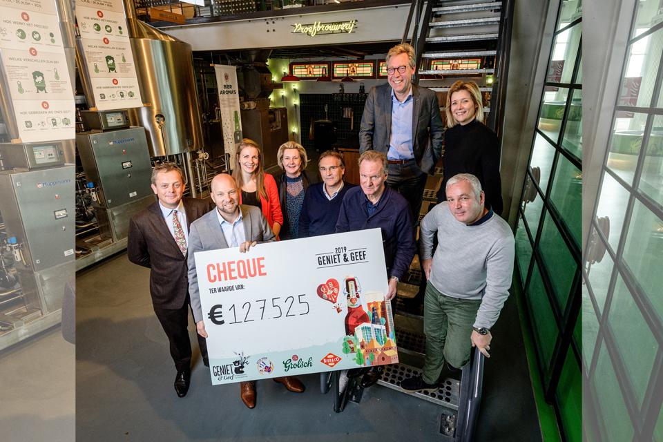 Geniet & Geef actie met Grolsch levert recordopbrengst van  € 127.525 op voor stichting KIKA