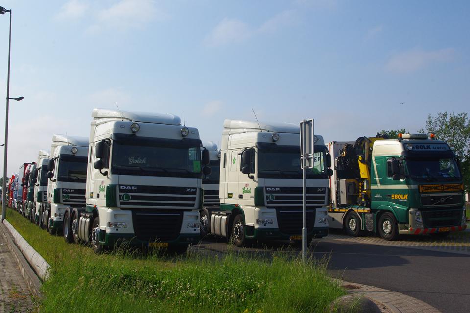 Grolsch vrachtwagens tijdens Truckrun